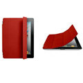 Miraculous magnetic wake smart cover for iPad 2 / The New iPad - red