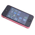 Brand new Ultra-thin scrub case for iphone 4 - pink