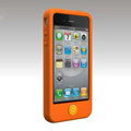Brand New Smarties silicone case for iphone 4 - orange