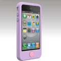 Brand New Smarties silicone case for iphone 4 - purple