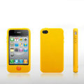 Brand New Smarties silicone case for iphone 4 - yellow