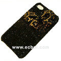 Bowknot bling crystal case for iphone 4G - black