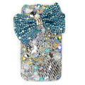 Brand New Bowknot Swarovski bling crystal case for iphone 4G - blue