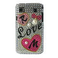 Brand New Hearts crystal bling case for Samsung i9000