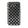Brand New Block bling crystal case for Samsung i9000 - black