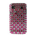 Brand New Block bling crystal case for Samsung i9000 - pink