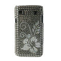 Brand New flower crystal bling case for Samsung i9000 - gray