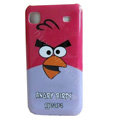 Angry Birds Cartoon Plastic Hard Case Cover For Samsung i9000 - Red