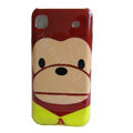 Pual Frank Cartoon Plastic Hard Case Cover For Samsung i9000 - Brown