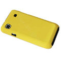 Ultra-thin scrub color covers for Samsung i9000 - yellow