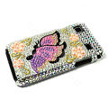Butterfly bling crystal for Samsung i9000 case - yellow