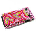 Heart bling crystal for Samsung i9000 case - red