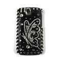Butterfly bling crystal case cover for HTC G7 - black