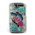Butterfly bling crystal case cover for HTC G7