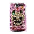 Panda bling crystal case cover for HTC G7 - pink