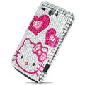 Hello kitty bling crystal case for HTC G8 - pink