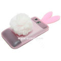 Rabbit Ears Silicone Case For HTC G7 - Pink