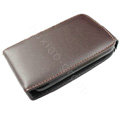 Simple leather case for HTC G8 - brown
