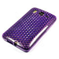 Silicone Case For HTC DESIRE HD G10 A9191 - purple diamond pattern