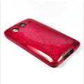 Silicone Case For HTC DESIRE HD G10 A9191 - red Circle pattern