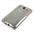 Silicone Case For HTC DESIRE HD G10 A9191 - white diamond pattern