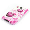 Silicone Case For HTC DESIRE HD G10 A9191 - Pink Heart pattern