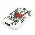 Silicone Case For HTC DESIRE HD G10 A9191 - Red Heart pattern