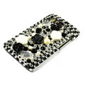 Flower 3D bling crystal case for HTC Desire HD A9191 G10 - black