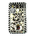 Hearts 3D bling crystal case for HTC Desire HD A9191 G10 - black