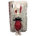 Rabbit Swarovski bling crystal case for HTC G10 - red