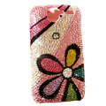 Color Flower bling crystal case for HTC G7