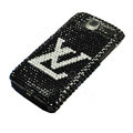 LV bling crystal case for HTC G7 - black