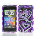 Hearts crystal case for HTC G11 - purple