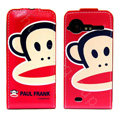 PAUL FRANK Leather case For HTC G11 - red