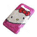 Hello kitty bling crystal case for HTC Incredible S G11 - pink