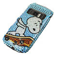 Blue Snoopy bling crystal case for Nokia C7