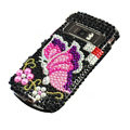 pink butterfly bling crystal case for Nokia C7