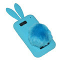 Rabbit Ears Silicone Case For Motorola ME525 - blue