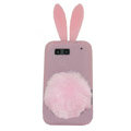 Rabbit Ears Silicone Case For Motorola ME525 - pink