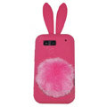 Rabbit Ears Silicone Case For Motorola ME525 - rose