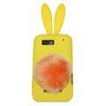 Rabbit Ears Silicone Case For Motorola ME525 - yellow