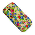Flower Color Painting Protective Case for HTC G14 - blue