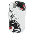 Color Painting flower Protective Case for Motorola XT800