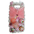 Bowknot ice cream cake case for Nokia E71 - pink