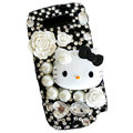 Hello Kitty bling pearl crystal case for Nokia E71 - black