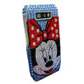 Mickey bling crystal case for Nokia E71 - blue