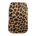 Leopard Leather holster case for Nokia N9 - gold