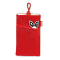 Mofi Soft Cloth Case for Nokia N9 - red
