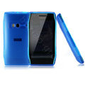 NILLKIN matte color cover case for Nokia X7-00 - blue