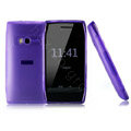 NILLKIN matte color cover case for Nokia X7-00 - purple